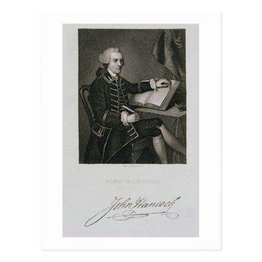 Retrato de Juan Hancock, grabado por Juan B. Forr Tarjeta Postal