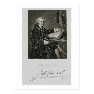 Retrato de Juan Hancock, grabado por Juan B. Forr Tarjetas Postales