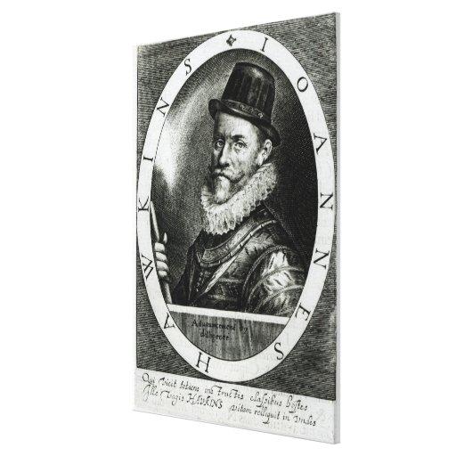 Retrato de Juan Hawkins Impresiones En Lona