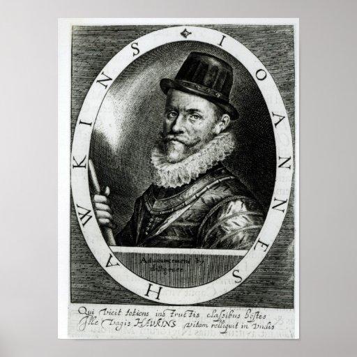 Retrato de Juan Hawkins Impresiones