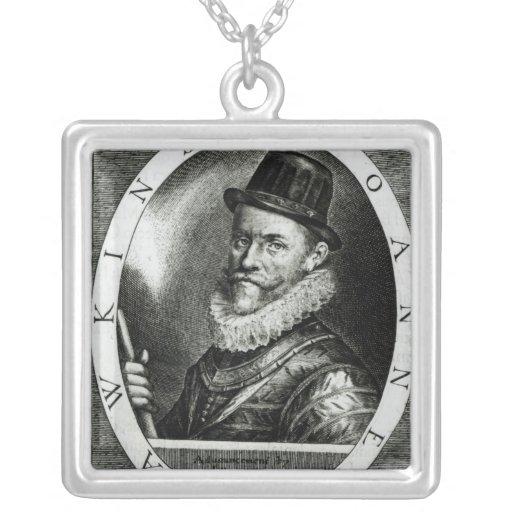Retrato de Juan Hawkins Pendientes Personalizados