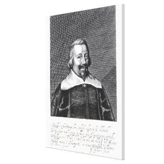 Retrato de Juan Pym grabado por George Impresión En Lona