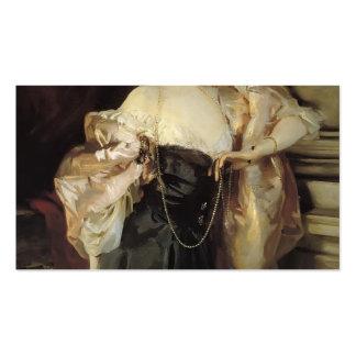 Retrato de Juan Sargent- de señora Helen Vincent Plantillas De Tarjetas De Visita