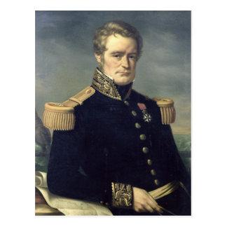 Retrato de Jules Dumont d'Urville 1845 Tarjeta Postal