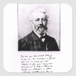Retrato de Jules Verne Colcomanias Cuadradas