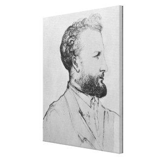 Retrato de Jules Verne d Impresiones De Lienzo