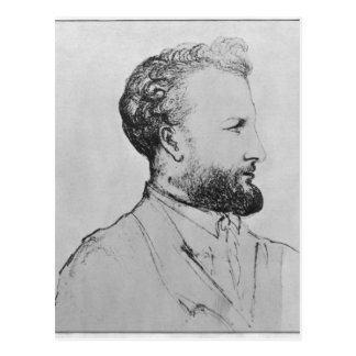 Retrato de Jules Verne d Postal