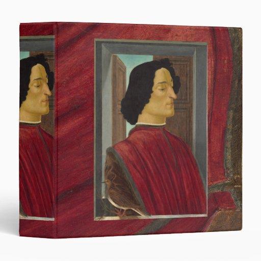 "Retrato de Juliano de Medici por Botticelli Carpeta 1 1/2"""
