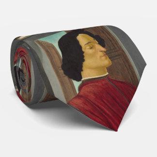 Retrato de Juliano de Medici por Botticelli Corbata