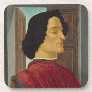Retrato de Juliano de Medici por Botticelli Posavasos De Bebida