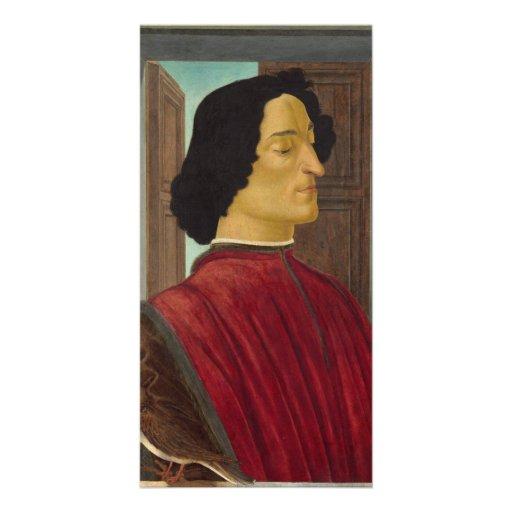 Retrato de Juliano de Medici por Botticelli Tarjetas Fotográficas Personalizadas