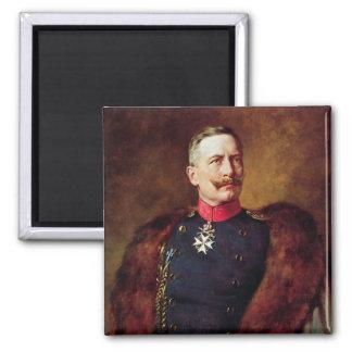 Retrato de Kaiser Wilhelm Ii Imán Cuadrado