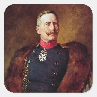 Retrato de Kaiser Wilhelm Ii Pegatina Cuadrada