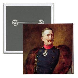 Retrato de Kaiser Wilhelm Ii Pin Cuadrado