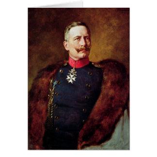 Retrato de Kaiser Wilhelm Ii Tarjeta De Felicitación