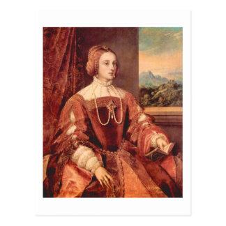 Retrato de Kaiserin Isabel, bella arte de Titian Tarjetas Postales