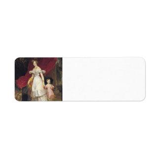 Retrato de Karl Bryullov- de la grande duquesa Etiqueta De Remitente