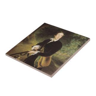 Retrato de Karl Bryullov- del poeta Tejas Ceramicas