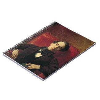 Retrato de Karl Bryullov- del poeta y del traducto Libreta