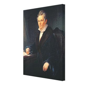 Retrato de Karl Friedrich Schinkel, c.1880 Lienzo Envuelto Para Galerías