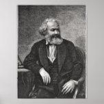 Retrato de Karl Marx 1857 Póster