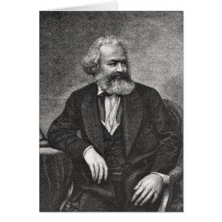Retrato de Karl Marx 1857 Tarjeta