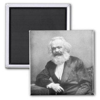 Retrato de Karl Marx Imán Cuadrado