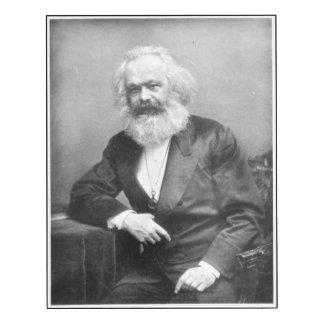 Retrato de Karl Marx Impresión En Madera