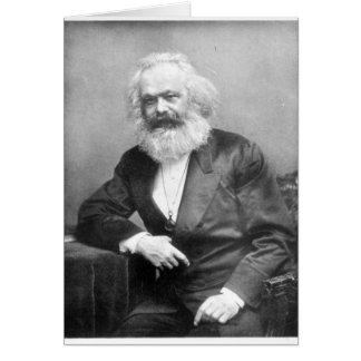 Retrato de Karl Marx Tarjeta De Felicitación