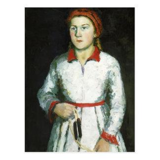 Retrato de Kazimir Malevich- de la hija del artist Postal