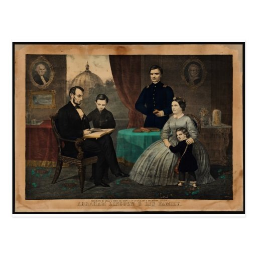 [Retrato de Kelly y de los hijos de Abraham Lincol Tarjeta Postal