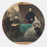 [Retrato de Kelly y de los hijos de Abraham Pegatina Redonda