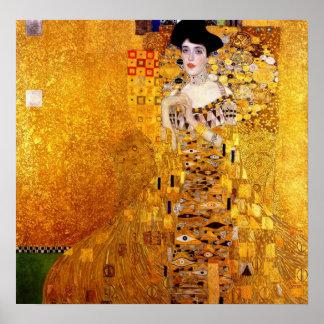 Retrato de Klimt del poster de Adela Bloch-Bauer