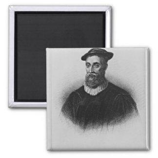 Retrato de Knox de los 'retratos británicos de la  Imán Cuadrado