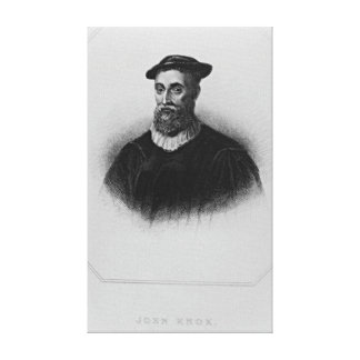 Retrato de Knox de los 'retratos británicos de la  Impresiones En Lona Estiradas