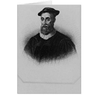 Retrato de Knox de los 'retratos británicos de la  Tarjeta De Felicitación