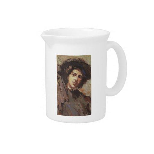 Retrato de Konstantin Korovin- de Nadezhda Jarras Para Bebida