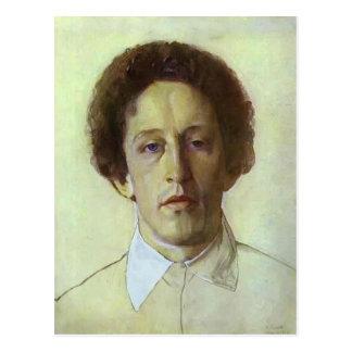 Retrato de Konstantin Somov- de Aleksandr Blok Postal