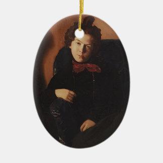 Retrato de Konstantin Somov- de Ana Lebedeva Adorno Ovalado De Cerámica