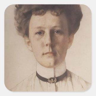 Retrato de Konstantin Somov- de baronesa Nolde Colcomanias Cuadradas