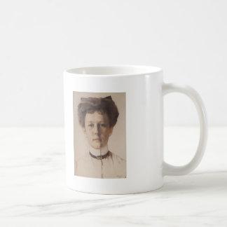 Retrato de Konstantin Somov- de baronesa Nolde Tazas De Café
