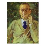 Retrato de Konstantin Somov- del compositor Sergei Tarjetas Postales