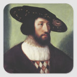 Retrato de Kristian II Pegatina Cuadrada