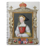 Retrato de la 3ro reina de Jane Seymour (c.1509-37 Libretas Espirales