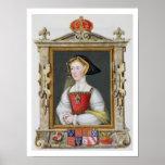 Retrato de la 3ro reina de Jane Seymour (c.1509-37 Impresiones