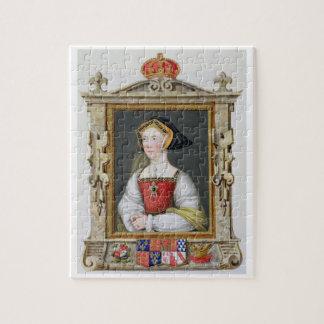 Retrato de la 3ro reina de Jane Seymour (c.1509-37 Rompecabeza Con Fotos