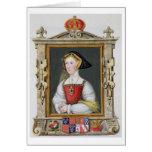 Retrato de la 3ro reina de Jane Seymour (c.1509-37 Tarjeta