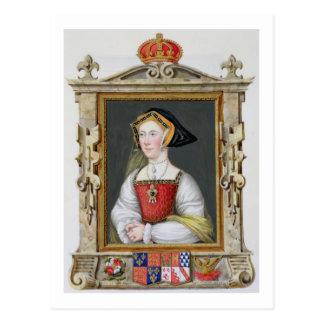 Retrato de la 3ro reina de Jane Seymour (c.1509-37 Postales