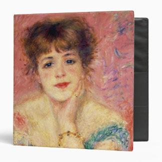 """Retrato de la actriz Jeanne Samary, 1877 Carpeta 1 1/2"""""""