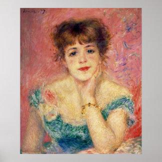 Retrato de la actriz Jeanne Samary 1877 Poster